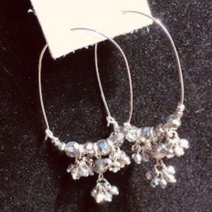 Shimmer Silver Loop Earrings *NEW*